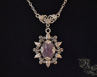 "Necklace ""Elsynia"" - Amethyst"
