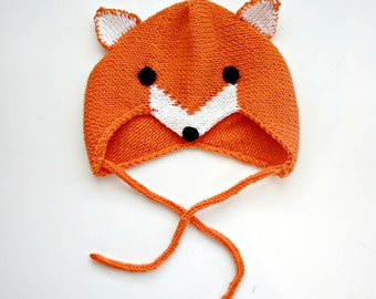 KNITTING PATTERN - The Little Foxy Bonnet