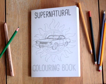 Supernatural Colouring Book
