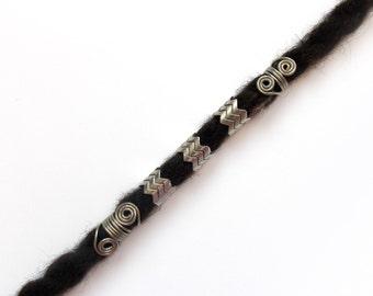 Metal Dreadlocks beads, Big hole size, Hair beads, Metal dreadlocks beads, loc jewelry, Rocker, Heavy metal, Hair accessories