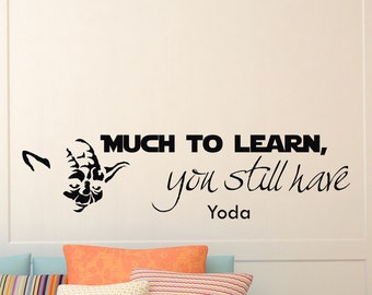 Wall Decals Yoda Star Wars Quote Decal Much to Learn Sayings Sticker Vinyl Decals Wall Decor Murals Z304