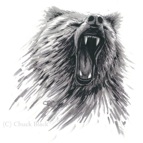 Grizzly Bear Limited Edition Art Print Grizzly