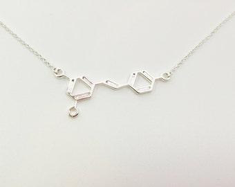 Wine Molecule Necklace, Gift for Doctors, Chemistry Teachers, Med Students, Nurse, Molecular Science Gift, Wine Molecular Structure