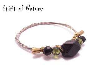 Guitar string bracelet Guitar string bangle Guitar string jewelry Recycled guitar string bracelet Wire wrapp bracelet Wire wrapp jewelry