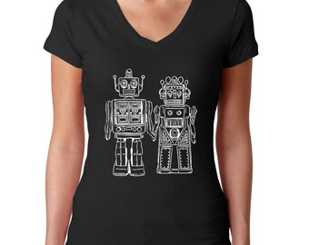 Black Robot Shirt - Robot Party - Robot Birthday - Robot T Shirt - Robot Tshirt - Geek Clothes - Geek Gift - Nerd Couples - Engineer Gifts