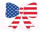 American flag svg, Bow design, 4th of July svg, Memorial day svg, SVG, DXF, EPS, files for use with Silhouette Studio & Cricut Design Space