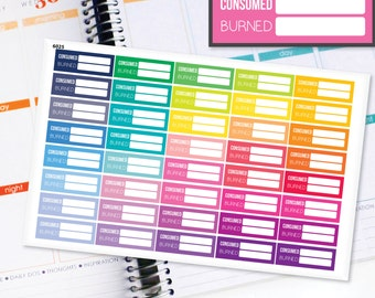 Planner Stickers Erin Condren Life Planner (Eclp) - 40 Work Out Fitness Exercise Calorie Counter Stickers (#6025)