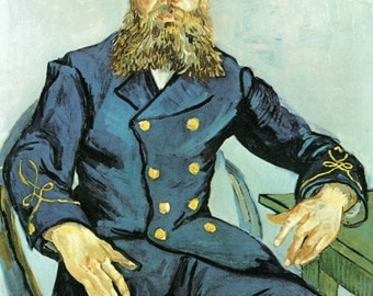 van Gogh Art Print, The Postman Roulin, Vincent van Gogh, Joseph Roulin Print, van Gogh Print, Dutch Artist, Post Impression Art, Portrait