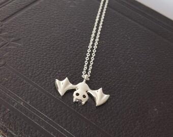 Adorable little bat necklace