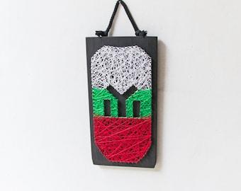 Bulgarian flag tricoulour, wall decor, Tangra symbol customizable, Flag of Bulgaria, homeland Bulgaria patriot, National colors of Bulgaria,