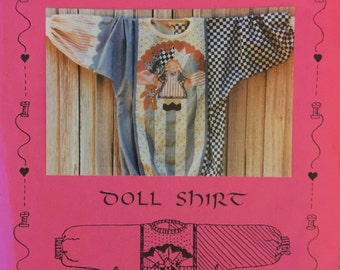 VTG Loving Stitches Doll Shirt (1987) Size Small-Medium-Large.  Complete, unused, FF. Excellent condition.