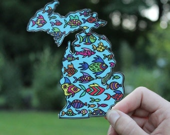 Michigan Fish sticker