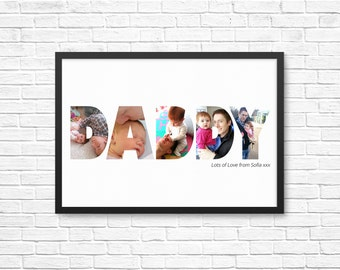 PERSONALIZED Gift for Him/ Daddy/ Dad - Custom/ Photo Art Printable.  Grandad, Grampa, Fathers day gift, Birthday  and Christmas present