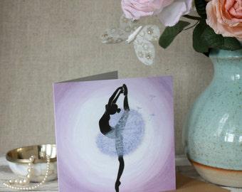 Dandelion Ballerina Greeting Card