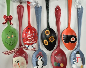 Hand painted Spoon Ornaments