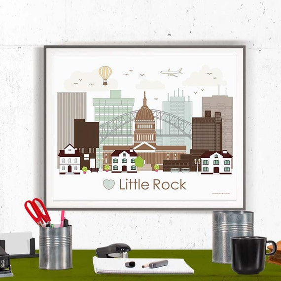 little rock print poster wall art printable by