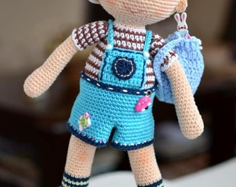 PATTERN - Boy Adam - doll, crochet pattern, amigurumi pattern, PDF
