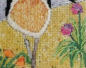 Shorebird Needlepoint Complete Kit with color-washed canvas