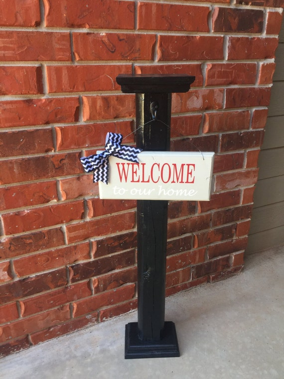 Porch post sign post decorative sign post porch decor for Outdoor decorative signs