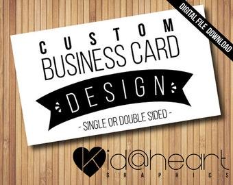 "Custom Business / Calling / Card / Cards / Design / 3.5"" x 2"" - Printable Digital File"