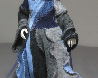 YoSD long coat in blues and grays