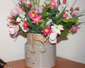Spring Arrangement, Wildflower Floral Arrangement, Spring Accent, Spring Floral Centerpiece