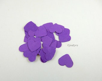 200 Wedding Heart confetti, table scatters, Purple wedding table decor, cardmaking, heart scatters, Valentine, Baby shower, bridal shower