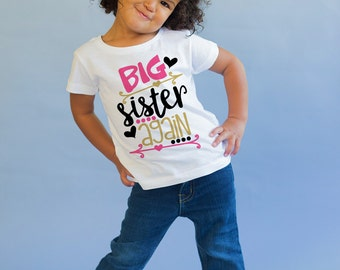 Big Sister Again Shirt - Big Sister Gift -Big Sister Little Sister - Matching Sister Shirt - Pregnancy Announcement - New Baby