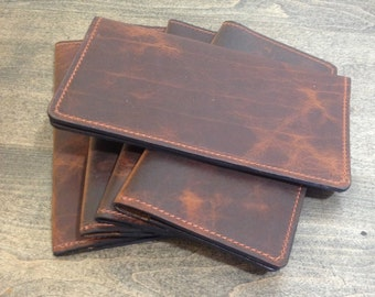 Bison Leather Checkbook Cover Without Exterior Logo