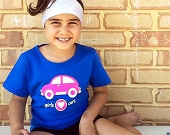 Girl Car Shirt, Pink Car, Girl Car Party, Cars for Girls, Car Party, Car, Car Shirt, Girls T Shirt, Girl Car, Girls Gift, Car Clothing, Cars
