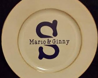 Personalized Home Decor (Charger Plates)