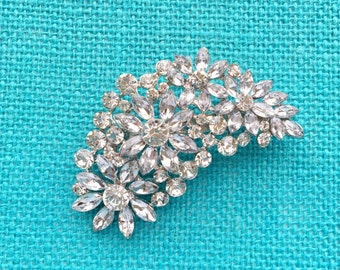 Silver Rhinestone Brooch Crystal Brooch Wedding Accessories Bridal Brooch bouquet Hair comb Wedding Cake Brooch