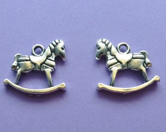8 pc Rocking Horse Charm - CS2241