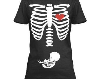 Halloween Pregnancy Shirt, Halloween Pregnancy Announcement Shirt, Skeleton Pregnancy Shirt, Halloween Baby Reveal, Baby Reveal Ideas