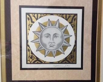 Kathleen Ney ~ Vintage Lithograph ~ Celestial