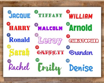 Custom Name Decal - Personalized Name Stickers Personalized Name Decal Custom Name Stickers - Custom Decal for Yeti Custom Laptop Decal