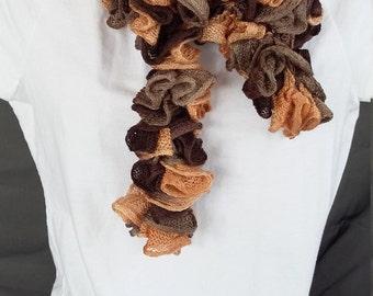 Crochet Ruffle Scarf - Item JB122