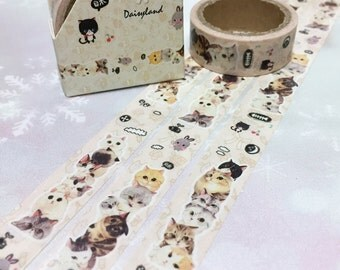 5M pussy Cat washi tape super Cute cat funny cat masking tape pretty cat kawaii kitten sticker tape cut cat diary cat planner gift decor