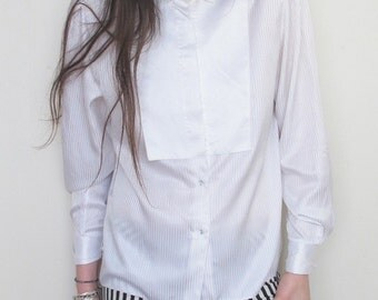 30s Inspired Parisian plastron shirt