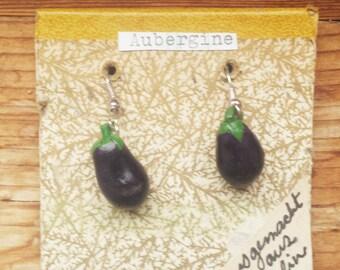 Eggplant Earrings