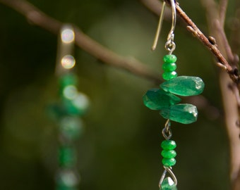 Beautiful Green Onyx Earrings