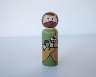 St. Joseph  Peg Doll-Saint Peg Doll
