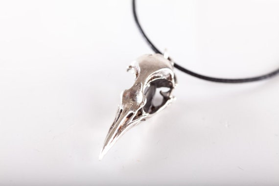 Crow Necklace - (made in ITALY, Sterling Silver 925)