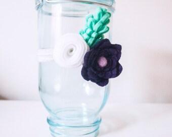 Baby (Toddler) Felt Flower Headband: Custom Colors Available