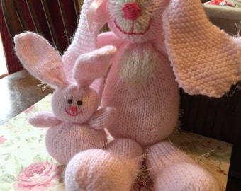 Knit toy bunny rabbit
