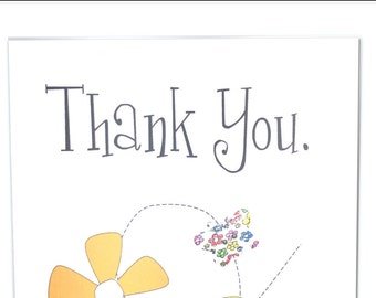 Thank You Greeting Card - Butterfly #LTH-023