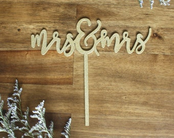 Mrs. and Mrs. Cake Topper Wedding Engagement Party LGBT