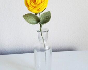 Felt Rose / Yellow Rose / Red Rose / White Rose / Wedding Flowers