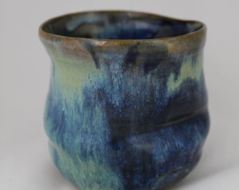 Wheelthrown Blue Vase