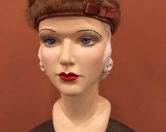 Vintage Freiman Mink Ladies Formal Hat